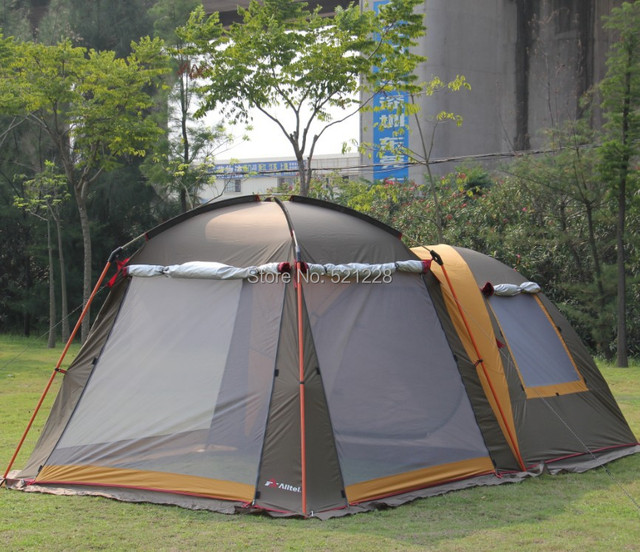 284030f99f2 Alltel 1 Bedroom 1 living room 4-6 person 2 layer rianproof outdoor camping  family party trekking hiking fishing beach tent
