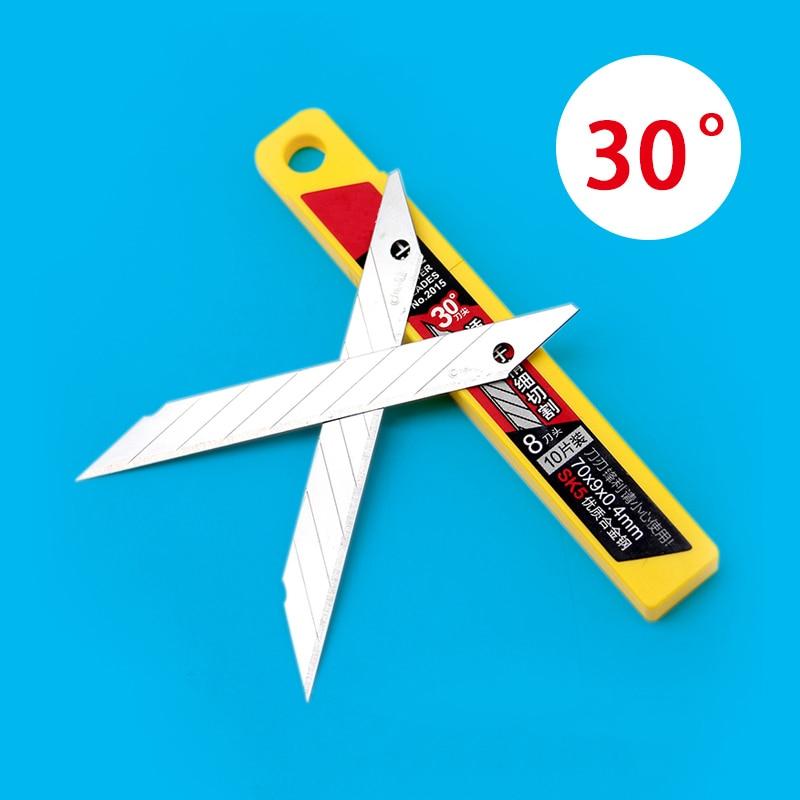 10 Pcs/Box Deli Art Blade 30 Degrees Blade Trimmer Sculpture Blade Utility Knife General blade a520c