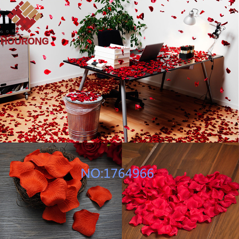 1000PcsLot 21 Colors Silk Rose Petals Leaves Artificial Flowers Petals Wedding Decoration Party
