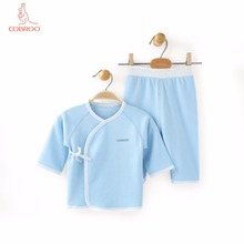 COBROO Baby Girl/Boy Clothing Set in Solid Color Long Sleeves Top&Pants 2-Piece 100% Cotton 0-3-6 Months