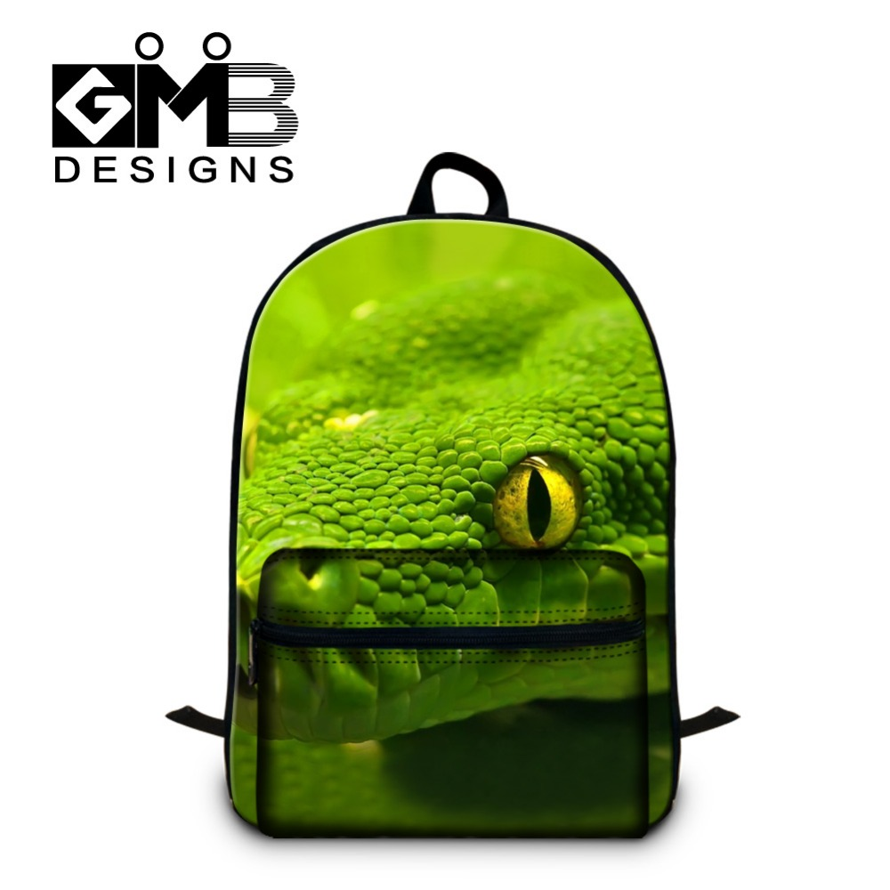 Personalized Computer Backpacks for adult Snake design 3D Printed School bookbags for teenagers boys youth cool laptop back pack