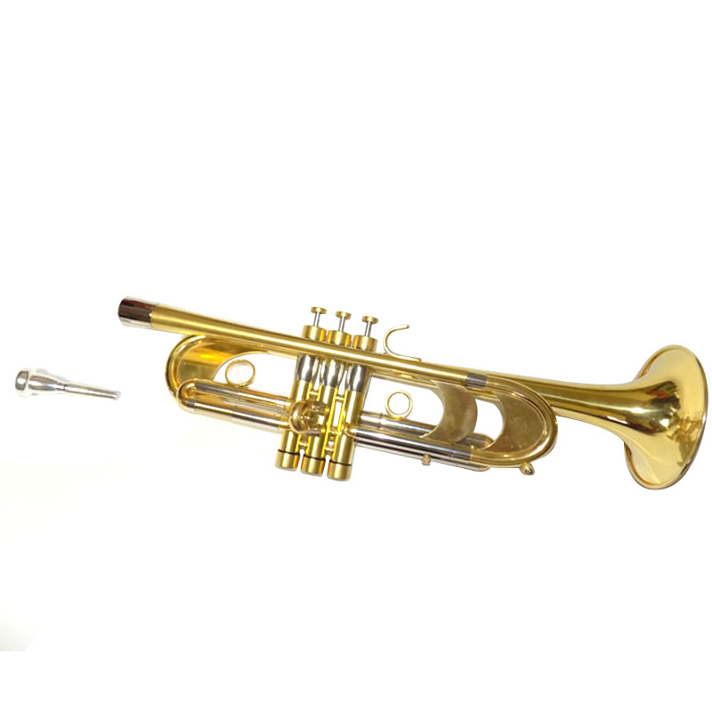 Professional Heavy Trumpet Passivation finish Bb Key Brass Trompete with case musical instruments Wholesale bb f tenor trombone lacquer brass body with plastic case and mouthpiece musical instruments