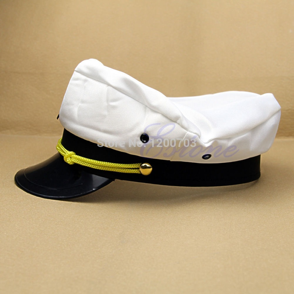 US $1 1 29% OFF|Newest Cool Handsome Skipper Sailor Boat General Cap  Costume Yacht Sea Captain Hat-in Men's Military Hats from Apparel  Accessories on