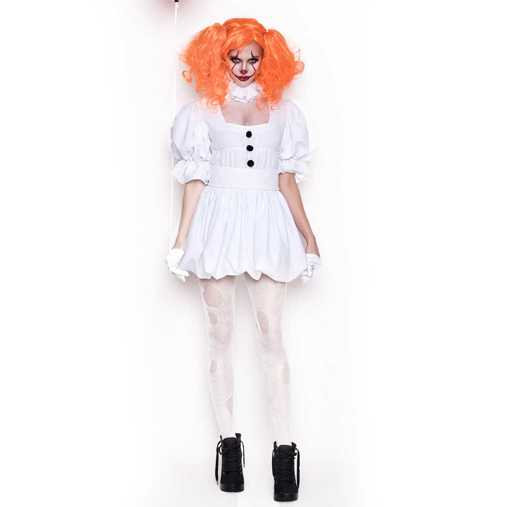 White Stephen Kings It Cosplay Costume Adult Pennywise Costume