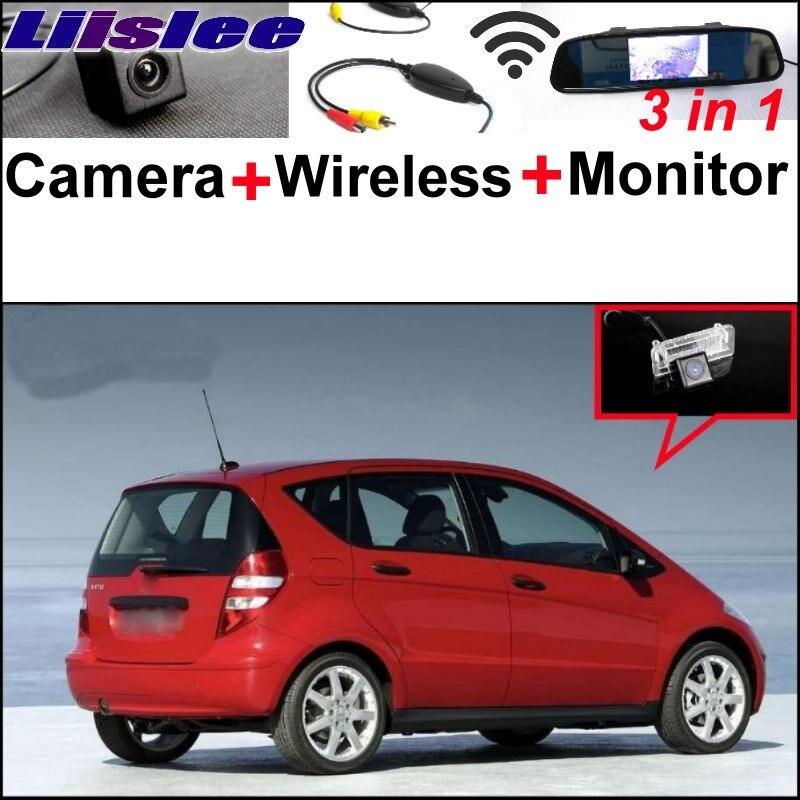 Liislee 3в1 специальный WiFi камера + беспроводной приемник + зеркало монитор легко DIY парковочная система для Mercedes Benz в МБ А Класс W169