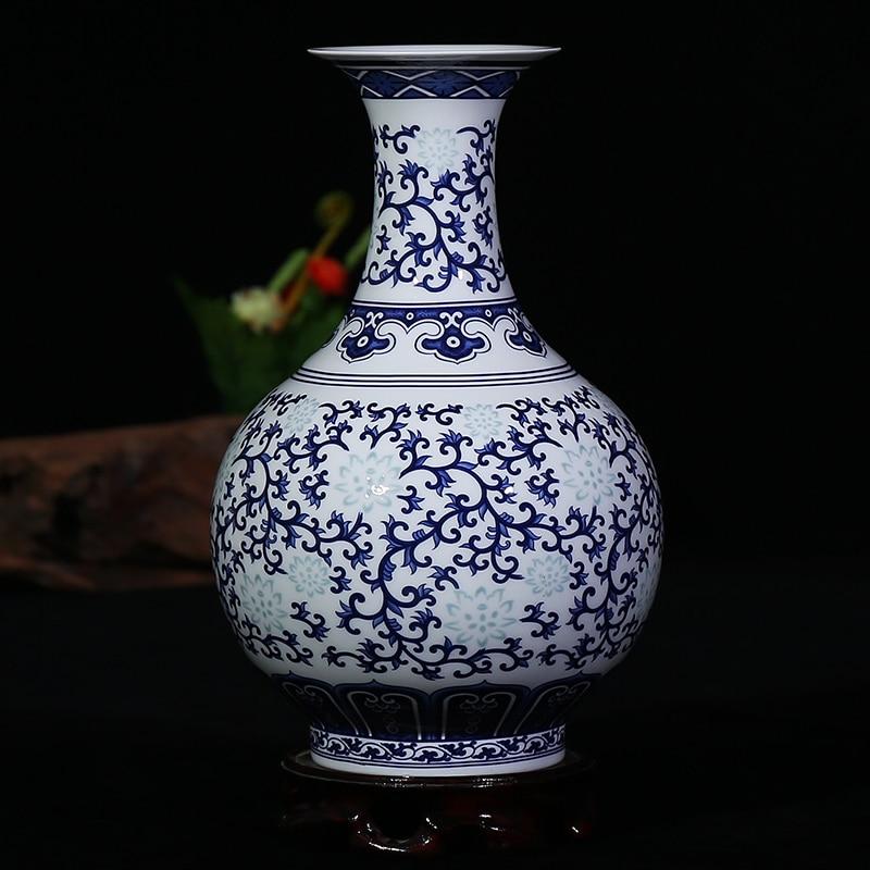 Jingdezhen Ceramics Bone China Vases Blue And White Exquisite
