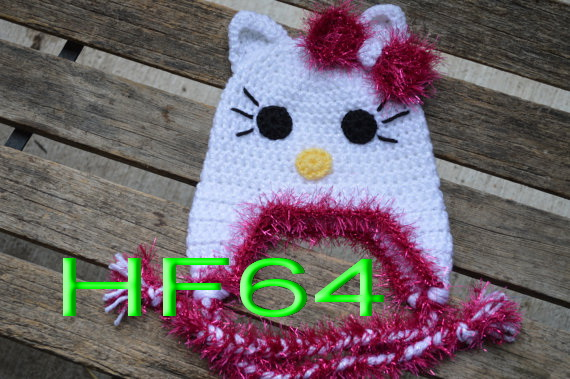 Free Shipping Lovely Crochet Girls Cat Hat Baby Cartoon Halloween
