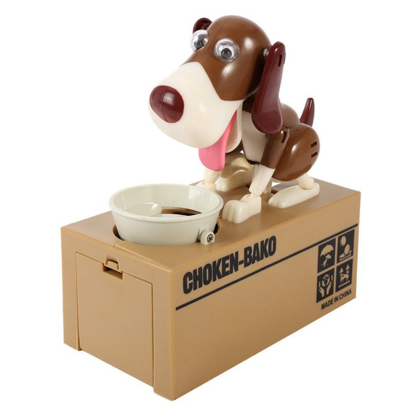 New Dog Piggy Save Money Bank Saving Box Adorable Puppy Hungry Robotic Dog Coin Box Can Creative Gift