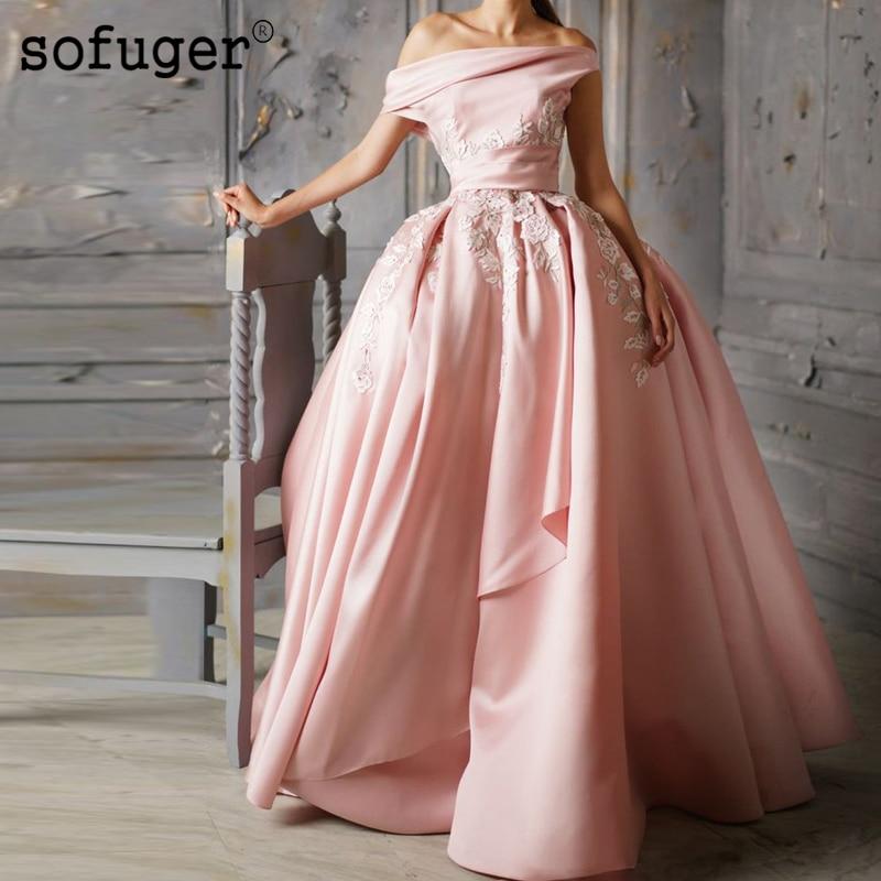 Graceful Sofuge Chiffon Beadings Backless One Shoulder   Evening     Dress   Prom Vestidos De Fiesta Formal Party   Dress   Arabic Muslim