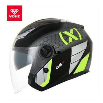 2018 Summer New YOHE Half Face Motorcycle Helmet Knight protection YH-868 Half Cover Motorbike Helmets Made of ABS PC Lens Visor