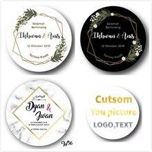 100 шт персонализированные, свадебные наклейки, приглашения, конфеты коробки для подарков этикетки, день рождения, логотип, фото подарки baby shower