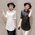 Hot Fashion Lace Shirts women clothes Summer women tops Half sleeve women shirts Plus Size blusas y camisas mujer Harajuku 4XL