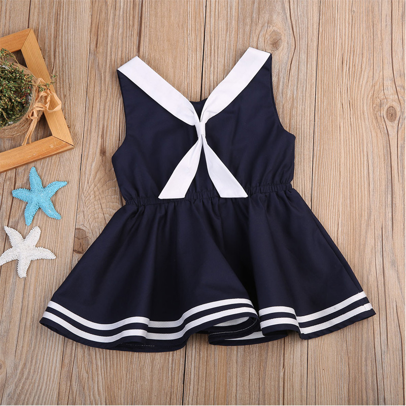 Navy toddler dress