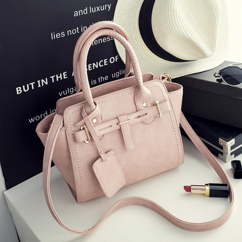 2017 Famous Luxury Brand Women Handbag Women Messenger Bags Black Trapeze Bag Leather Shoulder Bags For Women  Bolsas Feminina