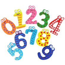 10 Pc Wooden Children's Educational Toys Cartoon Number with Magnet Early Education Learning Kids Arithmetic Toys
