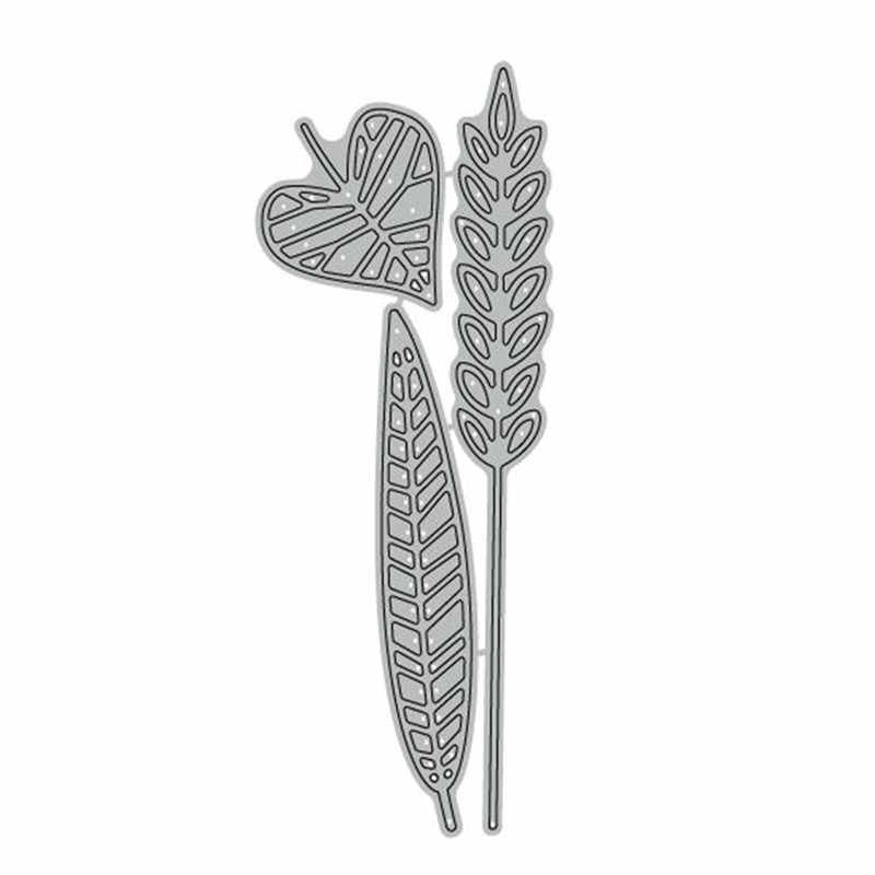 GJCrafts Wheatears Leaf Clear Stamps and Dies Scrapbooking Dies for Card Making Embossing Cuts New Craft Stamp Sets with Dies