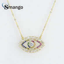 5Pieces, The Rainbow Series Women Fashion The Eyes Shape Necklace and Pendant,Gold Color,Can Wholesale