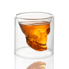 2016 New Creative 75ml Skull Design Crystal Transparent Glass Cup For Vodka Whiskey Shot Bar Home Drinking Ware creative cool skull designed vodka whiskey shot glass transparent 70ml