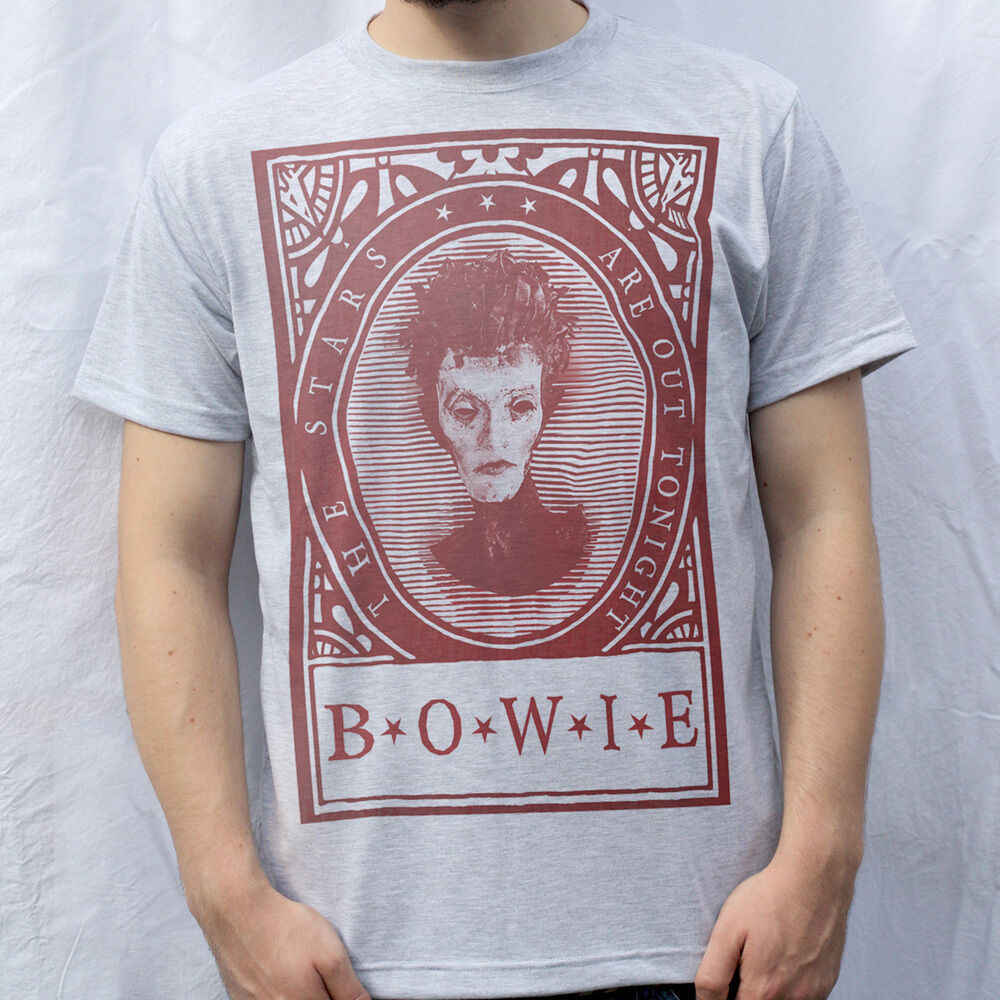 As Estrelas Design da Camisa de T, David Bowie ft. Egon Schiele