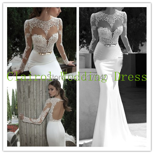 Aliexpress.com : Buy Vestidos De Noiva 2014 New Backless Sexy Long ...