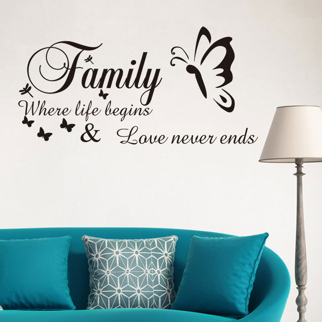 3D Wallpapers Lettere Inglesi Adesivi Murali Soggiorno Famiglia ...