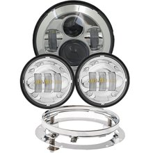 "1 Set Harley Daymaker 7″ LED Headlight with 4.5 "" Led Fog Light for Harley Davidso Motorcycle with 7″ Bracket Adapter Ring"