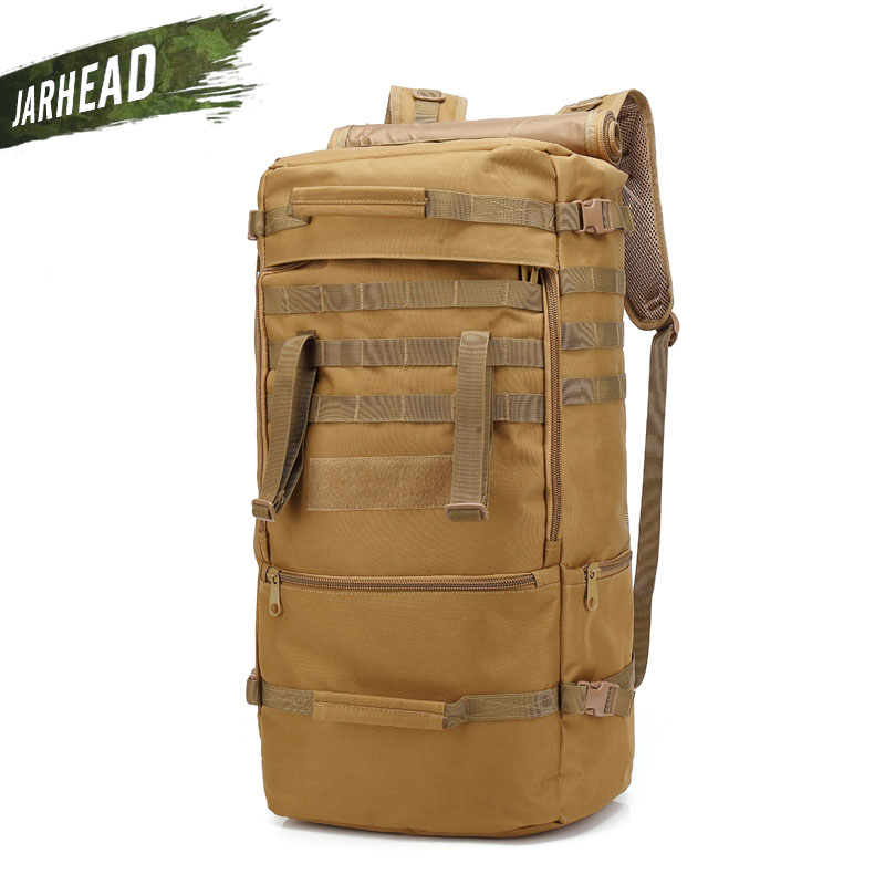 60L Military Tactical Attack Backpack Men Outdoor Travel Hunting Climbing Camping Waterproof Knapsack Tactics Sport Rucksack
