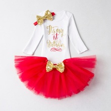My Girl Baby Long Sleeve Girls First 1 Year Birthday Dress For Christening Gown Infant Dresses Kid Costume Winter Clothes 9 12M