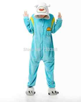Designer Anime Adventure Time With Finn And Jake Cosplay Cosplay Pajamas Adult Female Male Onesie Fleece Sleepwear Pyjamas