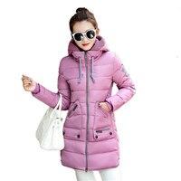 Winter Jacket Plus Size 7XL Women New Europe Style Hooded Slim Medium Long Parkas Lady Top Coat Casual Warm Jaqueta MZ1846