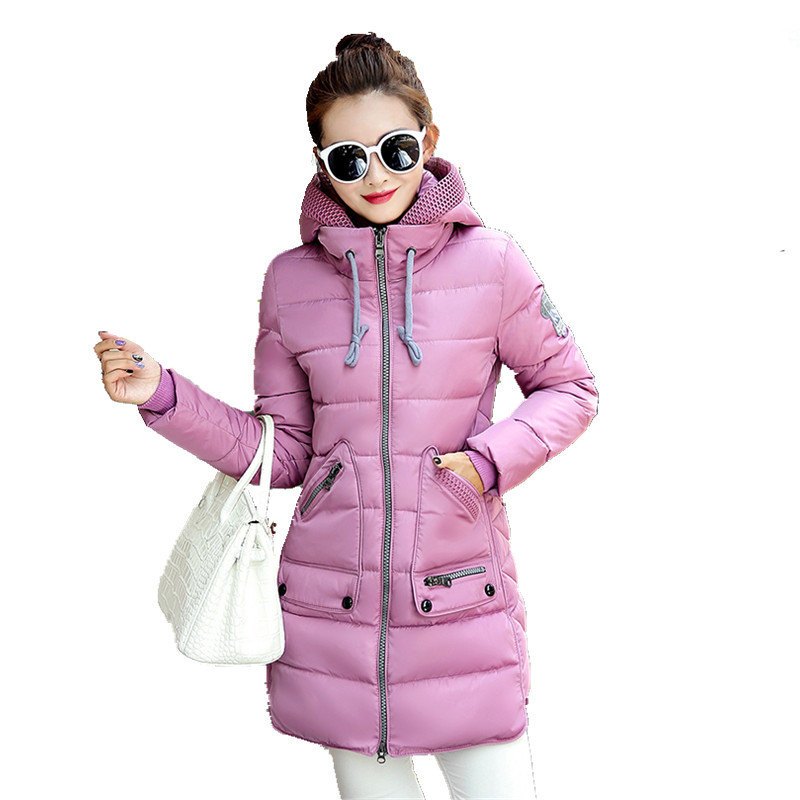 Winter Jacket Plus Size 7XL Women New Europe Style Hooded Slim Medium Long Parkas Lady T ...