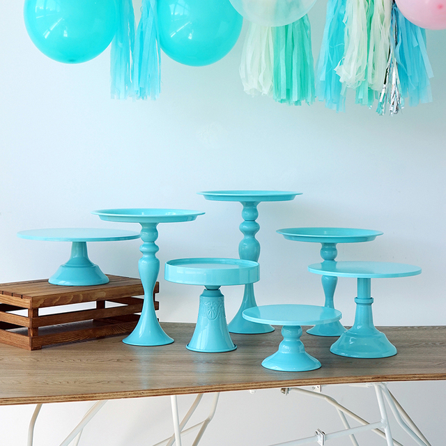 Cool Us 15 3 49 Off Baby Blue Cake Stand Cupcake Tray Cake Tools Home Decoration Dessert Table Decorating Party Suppliers 3 Tiers Birdcage In Cake Interior Design Ideas Clesiryabchikinfo