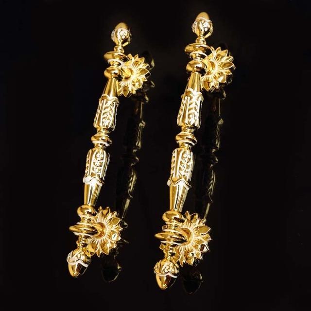 128mm moda moderna de lujo muebles puerta manijas oro blanco armario ...