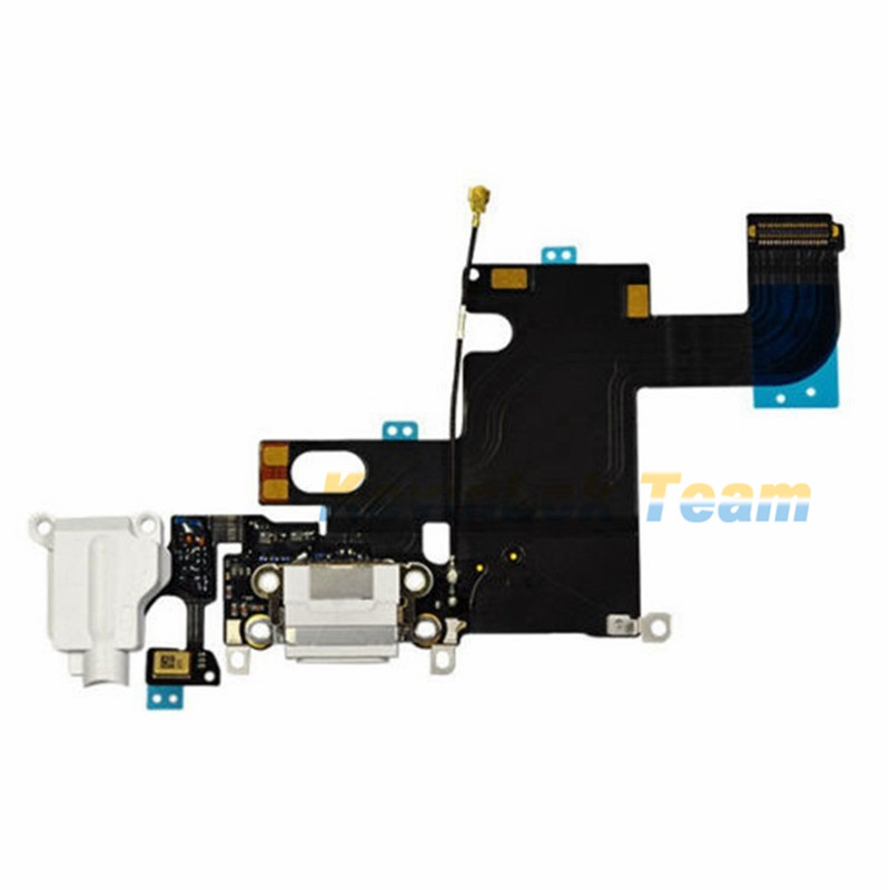 High Quality For iPhone 6 6 Plus Charger Charging Data USB Dock Port Flex Cable With Headphone Audio Microphone