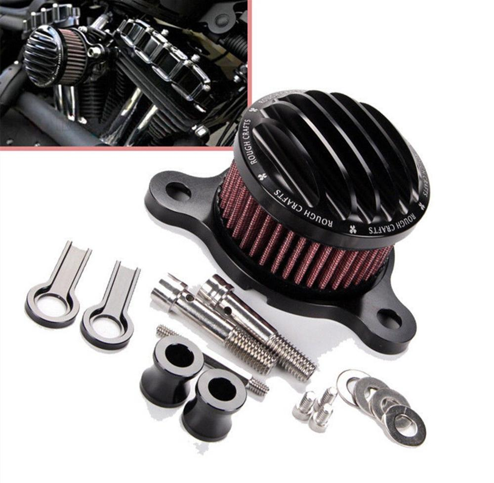 CNC Air Cleaner Intake Filter System Kit for Harley Sportster XL883 XL1200 1988-2015 XL 883 1200 Motorcycle motorcycle air filter intake cleaner for harley davidson sportster xl883 xl1200 2004 2015 04 05 06 07 08 09 10 11 12 13 2012