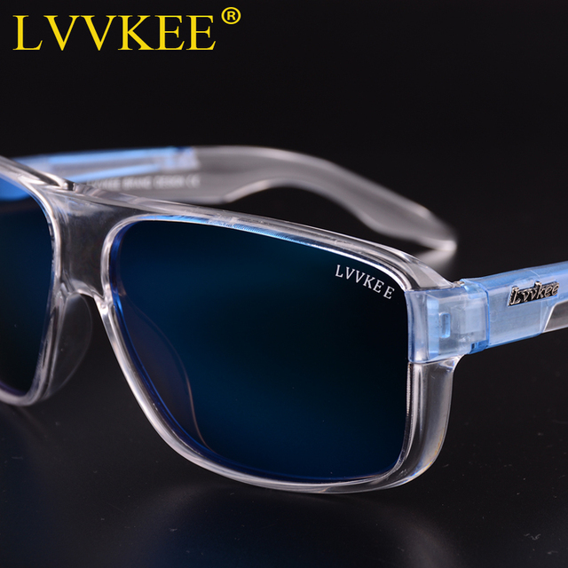 LVVKEE 2018 Brand Male Polarized Sunglasses Outdoor sports Men/Women Transparent Colorful frame Sun Glasses oculos mormaii surf 1