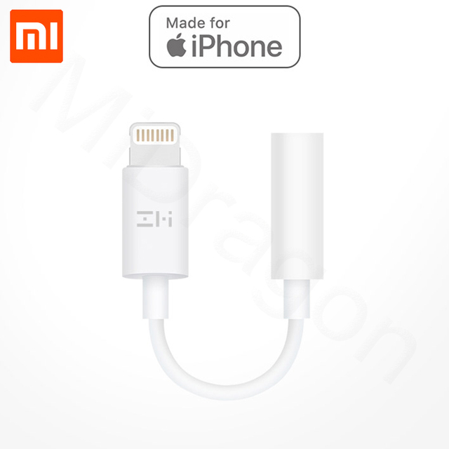 buy popular d48c7 71a0c US $12.68 20% OFF Original Xiaomi ZMI Apple Lightning Audio Converter 3.5mm  Headphones Audio Adapter Music Player for iPhone 7 plus for iPhone 8 P-in  ...