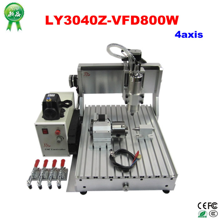 Metal Engraving Machine 3040 Engraver 800W CNC Machine to EU country free tax high quality 3040 cnc router engraver engraving machine frame no tax to eu