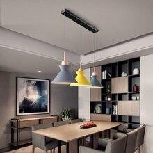חבילה של 3 אוכל שולחן מנורת אורות קרון צבעוני LED מודרני תליון מנורת Hanglamp עבור אי במטבח תקרת חדר תאורה