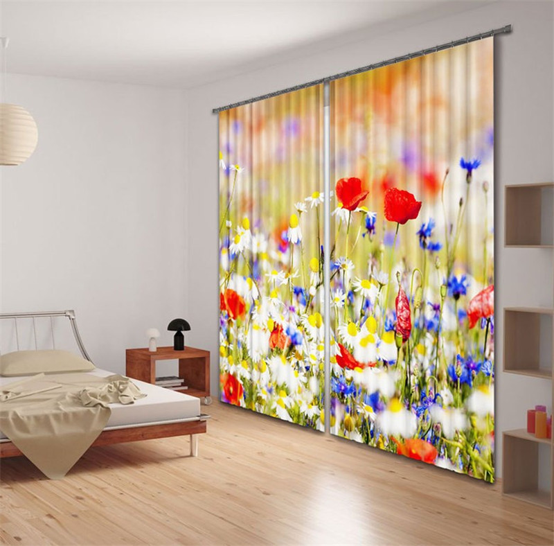 girl Bedroom Curtains Luxury Blackout 3D Window Curtains Decor For Living Room  Drapes cortinas Decor Customized size FLOWERgirl Bedroom Curtains Luxury Blackout 3D Window Curtains Decor For Living Room  Drapes cortinas Decor Customized size FLOWER