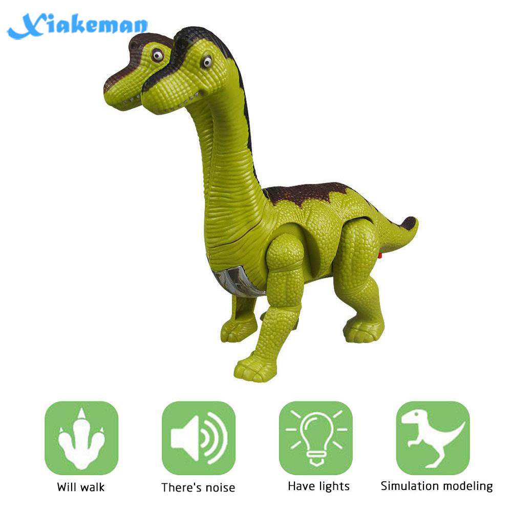 Electric Dinosaurs Model Toys Children Double-headed Dinosaur Automatic Walking Electronic Toy With Light Sound Effect Boy Gift