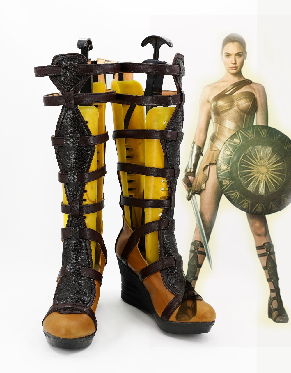 The Movie Wonder Woman Diana Prince Cosplay Costume Shoes -5948