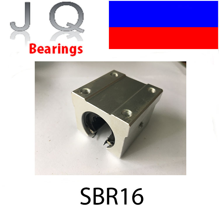 JQ Bearings SBR16 SBR16UU Linear Bearing Pillow Block 16mm Open Linear Bearing Slide Block CNC Router Parts 1PCS Unit XYZ CNC SB free shipping sc16vuu sc16v scv16uu scv16 16mm linear bearing block diy linear slide bearing units cnc router