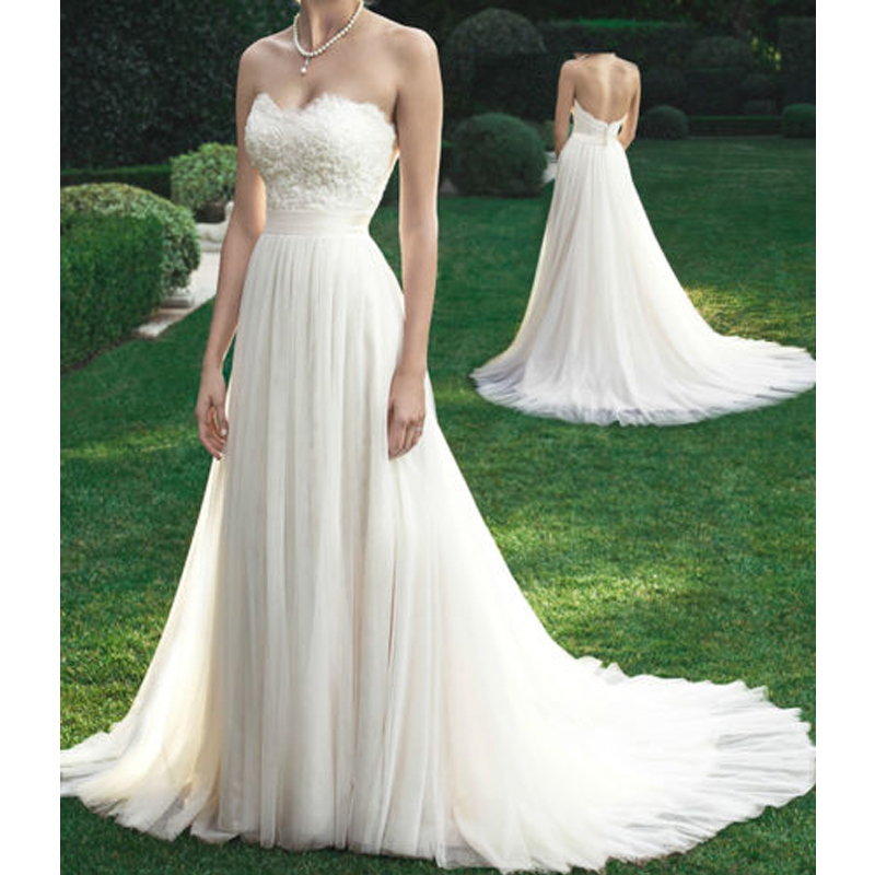 Simple Vintage Wedding Dresses: Vintage Simple White Beach Wedding Dresses Stunning Off
