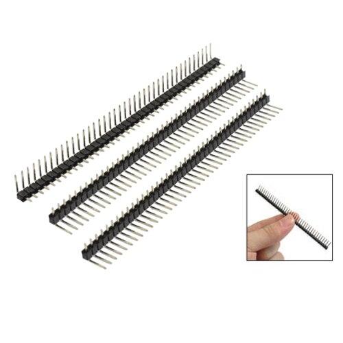 3 Pcs 40 Pins 2.54mm Pitch Right Angle PCB Board Pin Headers