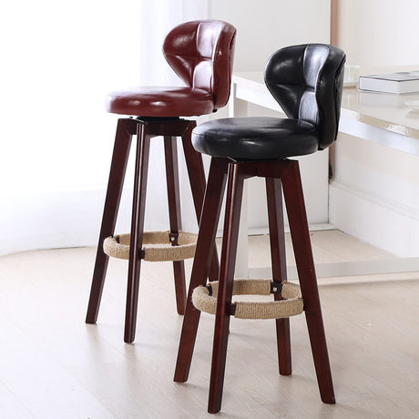 Bar Chairs Furniture Solid Wood high chair Rotatable Bar Chair Fashion Cafe Chair minimalist sandalye cadeira hot sale 34.5*75cmBar Chairs Furniture Solid Wood high chair Rotatable Bar Chair Fashion Cafe Chair minimalist sandalye cadeira hot sale 34.5*75cm