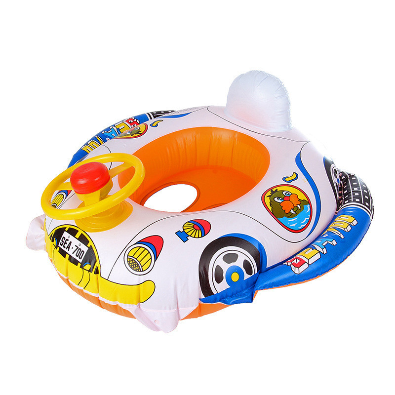 iEndyCn Baby Swimming Ring With Handle Cartoon Swim Ring Swimming Pool Accessories for Baby Boys GXY155