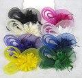 Acessórios de cabelo de noiva chapéus azul roxo bege disponível em estoque