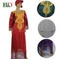 (Бесплатная Доставка) 2017 Новая Африканская одежда Мусульманский стиль dreess хлопок 100% riche базен riche женщина платье кисточкой украшения S2552
