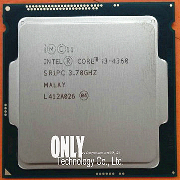 Intel CPU Lga 1150 Processor-3.7ghz Dual-Core I3 22nm 4360 Scrattered-Pieces Original